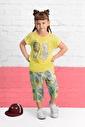 U.S. Polo Assn. U.S. Polo Assn Lisanslı Limon Sarı Kız Çocuk Kapri Takım Sarı